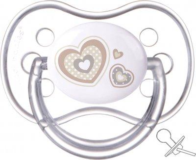 Пустушка Canpol Babies Newborn baby силіконова кругла 18+ місяців Бежева (22/564 Бежевий)