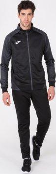 Спортивна кофта Joma Essential II 101535.110-M Чорна із сірим