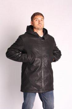 Куртка экокожа ZIBSTUDIO шлица чёрный