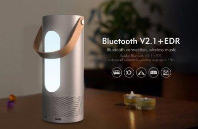 Портативна bluetooth колонка Havit HV-M9 з об'ємним звуком, Power Bank і багатобарвним світлодіодним кольором Silver