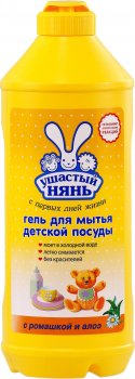 Упаковка геля для мытья посуды Ушастый нянь 500 мл х 5 шт (ROZ6400050029)