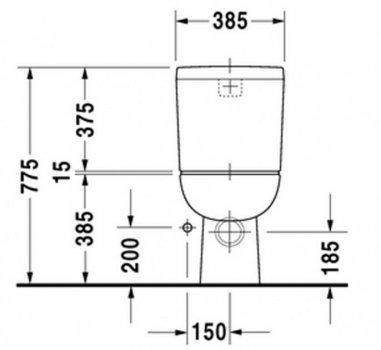 Бачок для унитаза DURAVIT D-Code 092700