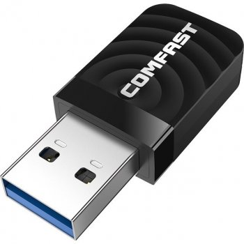 Двухдиапазонный WiFi AC адаптер Comfast CF-812AC USB3.0 Gigabit 1300Mbps 2.4/5.8Ghz