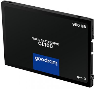 """Goodram SSD CL100 Gen.3 960GB 2.5"""" SATA III 3D NAND TLC (SSDPR-CL100-960-G3)"""