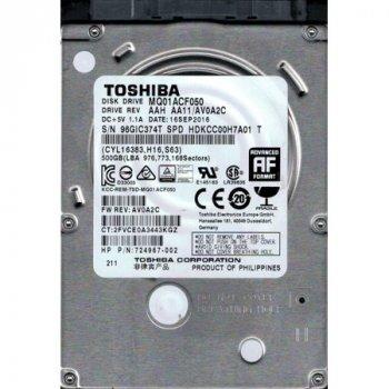 """Жорсткі диски / Toshiba / MQ01ACF050-FR / 2.5"""" / 7mm / 500GB / 7200rpm / SATA 6Gb/s / 16MB / заводське відновлення / 12 міс гарантія"""