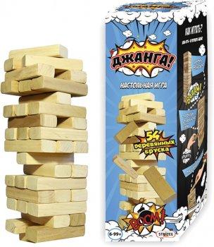 Настільна гра Strateg Дженга 54 бруски (4820175996375)