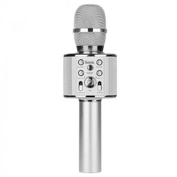 Безпровідний Мікрофон Караоке Колонка HOCO BK3 Silver