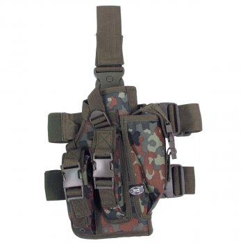 Кобура для пистолета тактическая с подсумками, с креплениями к ноге и ремню MFH флектарн (30711V)