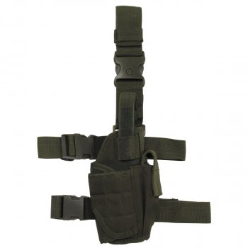 Кобура для пистолета набедренная правосторонняя регулируемая MFH олива (тёмно-зелёная) (30710B)