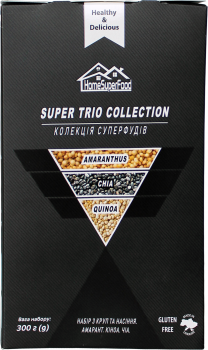 Набор круп и семян Healthy Generation Super Trio Collection Home Super Food 300 г (4820219570219)