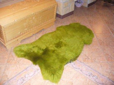 Овеча шкура Легит 1.25 х 0.8 зелена (ОВ05)