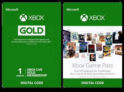 Карта оплати 1 місяць Xbox Game Pass + 1 місяць Xbox Live Gold, (Всі Країни)
