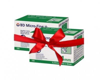 Набор! Иглы для инсулиновых шприцов и шприц ручек MicroFine Becton Dickinson МикроФайн 4 мм (32G x 0,23 мм) - 2 уп.