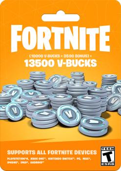 Fortnite: 13500 В-баксів (10000 + 3500 V-BUCKS) | Всі платформи