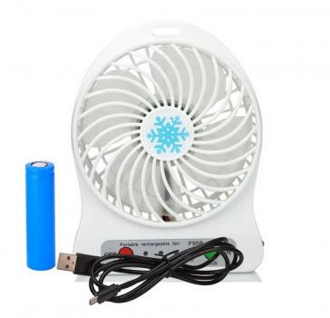 Переносной портативный вентилятор Ручной и Настольный UTM Original 3 режима работы Белый (8465461)