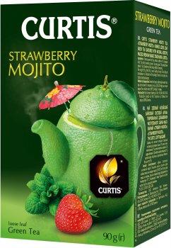 Чай зеленый байховый со вкусом клубничного мохито Curtis Strawberry Mojito 90 г (4823063703468)
