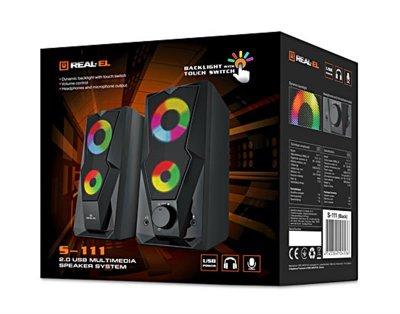 Акустична система REAL-EL S-111 Black