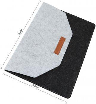 """Чохол для ноутбука Traum 15"""" з додатковим чохлом для кабелю Black/Grey (7112-43)"""