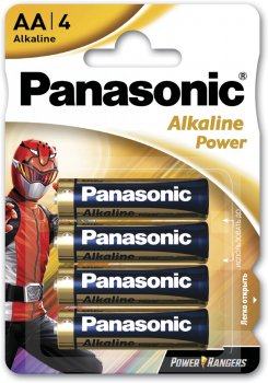Батарейки Panasonic Alkaline Power щелочные AA блистер 4 шт Power Rangers (LR6REB/4BPRPR)