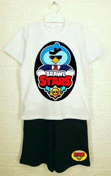 Костюм ArtSvet Brawl Stars Mr.Pi (Бравл Старс Мистер Пи) Белый ARTK2MB20B