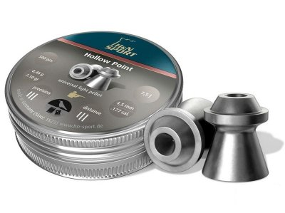 Свинцеві кулі Haendler & Natermann Hollow Point 500 шт/уп 0,46 гр 4,5 мм (1453.01.07)