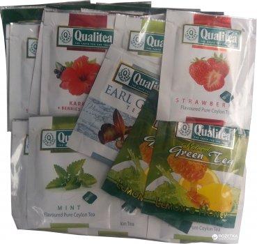 Упаковка чая Qualitea фруктового Цейлон Фруктовое ассорти 2 пачки по 50 пакетиков (4820053771681)