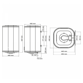Водонагрівач ARTI WH Cube Dry 50L/2