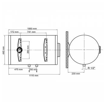 Водонагрівач ARTI WHH Dry 120L/2