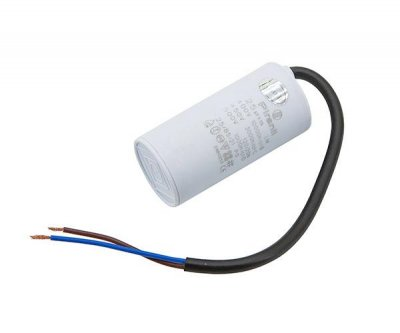 Конденсатор пускорабочий 25 мкФ 450 В (25uF 450V) CBB60, з проводами (Piranil)