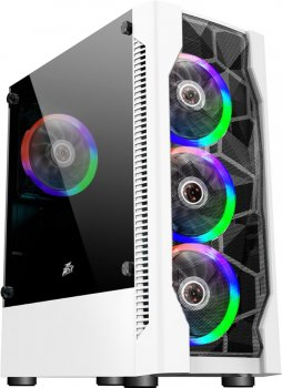 Корпус 1STPLAYER D4-WH-R1 Color LED White без БЖ
