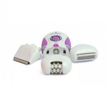 Эпилятор женский 3 в 1 пинцетный беспроводной Nikai 7698 Violet 2 скорости автономность 40 мин подсветка