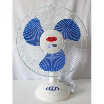 Вентилятор настільний WimpeX тихий для будинку безшумний Білий WX1601