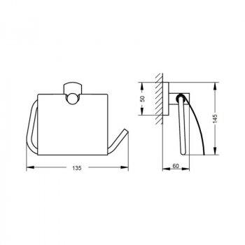 Тримач для туалетного паперу Q-tap Liberty 1151 CRM
