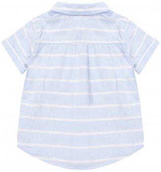 Рубашка H&M бело голубой полоска 6976569