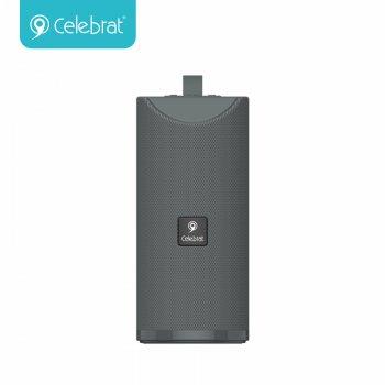 Портативна акустична система CELEBRAT TWS SP-7  AUX/USB/TF/FM/BT5.0, 5W, 360°  Grey