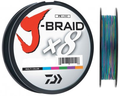 Шнур Daiwa J-Braid X8 0.16 мм - 150 м мulti Color (12755-016)