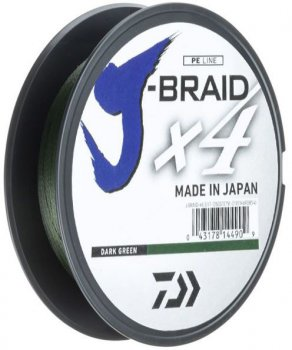 Шнур Daiwa J-Braid X4E 0.10 мм - 135 м Dark Green (12741-010)