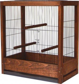 Клетка для птиц Лорі Loft Ретро 50 х 46.5 х 29 см Коричневая (4823094305440)