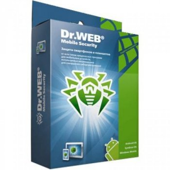 Антивірус Dr. Web Mobile Security Suite + Антивірус/ ЦУ 25 моб прис 2 роки ел (LBM-AC-24M-25-A3)