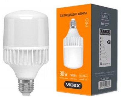Світлодіодна лампа VIDEX A80 30W E27 5000K 220V (25002)