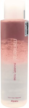 Ремувер для демакияжа A'pieu Mineral Lip&Eye Remover Sweet Rose для губ и глаз 250 мл (8809581455580)