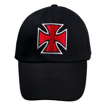 Бейсболка Talisman КРЕСТ Мальтийский Черный (RB077)