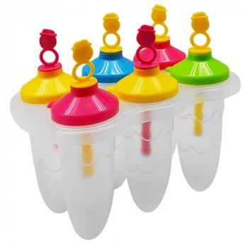 Формы для мороженого и фруктового льда пластик Stenson R84757 набор 6шт 16.5х10 см