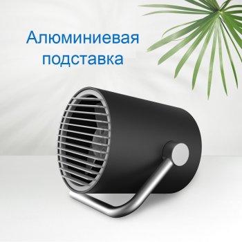 Вентилятор настільний CoolEngine портативний маленький безшумний міні юсб тихий USB Чорний KWMF100