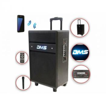 Колонка Bluetooth аккумуляторная DMS K10-141MS Bluetooth, USB, MP3, Wireless LED (14145)