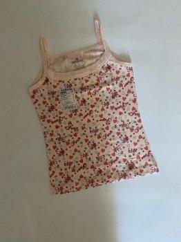 Майка для девочки Baykar 4994, розовая с сердечками