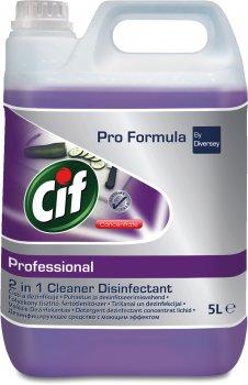 Высококонцентрированное средство Cif Professional 2 в 1 для мытья и дезинфекции всех поверхностей 5 л (25488860)