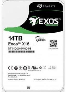"Жорсткий диск (HDD) Seagate 3.5"" 14TB 7.2 K RPM SATA 6Gb/s Server Exos X16 512 (ST14000NM001G)"