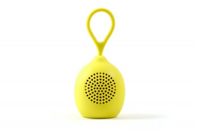 """Колонка дитяча BlueTooth CLICK """"Децибелка"""" лимон - портативна 3Вт - може управляти плеєром - підтримка стерео колонок"""