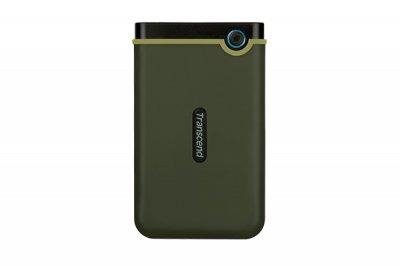 """Зовнішній жорсткий диск HDD 2.5"""" USB 3.1 1TB Transcend StoreJet 25M3 Military Green Slim (TS1TSJ25M3G)"""